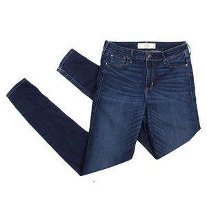 Hollister High Rise Skinny Jeans Stretch Dark Wash 9L 29x33
